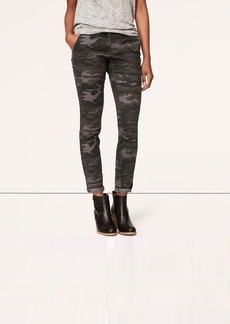 Petite Camo Print Tailored Twill Skinny Pants in Julie Fit