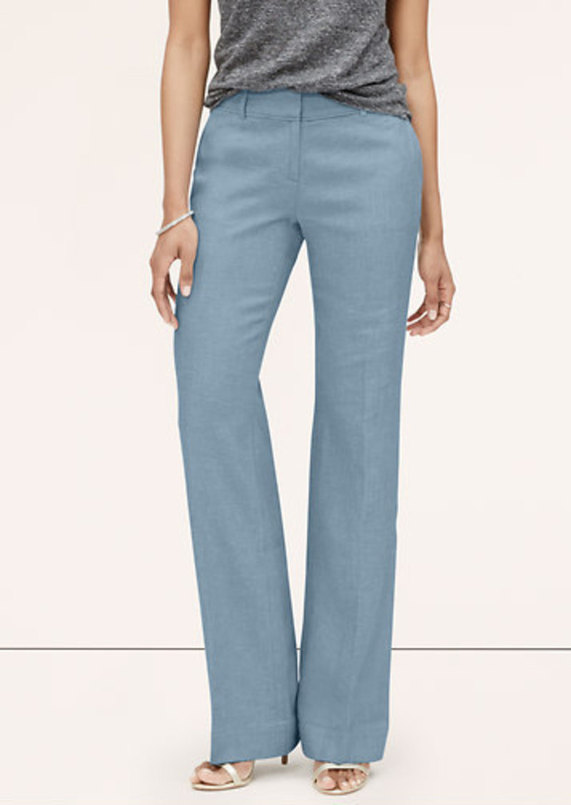LOFT Petite Chambray Fluid Trousers in Julie Fit