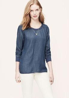 Petite Chambray Sweatshirt