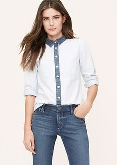 Petite Colorblock Softened Shirt
