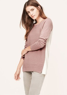 Petite Colorblock Textural Tunic Sweater