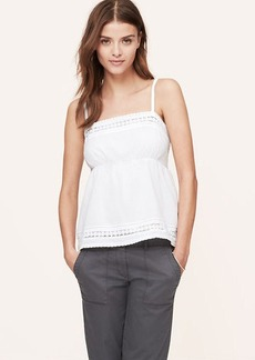 Petite Crochet Trim Empire Cami Top