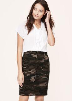 Petite Curvy Fit Camo Pencil Skirt