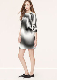 Petite Embellished Stripe Sweatshirt Dress
