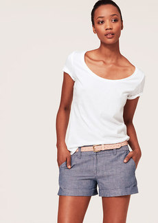 Petite Essential Scoop Neck Tee