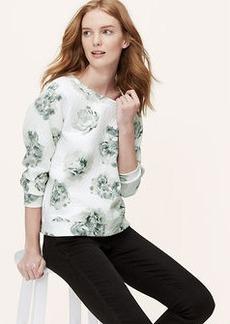 Petite Floral Quilted Sweatshirt