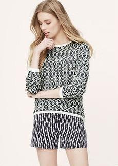 Petite Geo Elliptical Hem Sweater