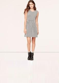 Petite Houndstooth Skirt Dress