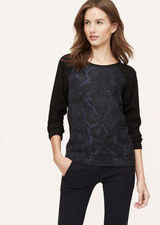 Petite Jacquard Woven Sweatshirt