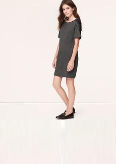 Petite Lace-Tipped Sweatshirt Dress