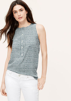 Petite Lattice Pocketed Henley Shell