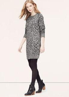 Petite Leopard Jacquard Sweater Dress