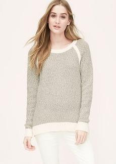 Petite Marled Framed Sweater