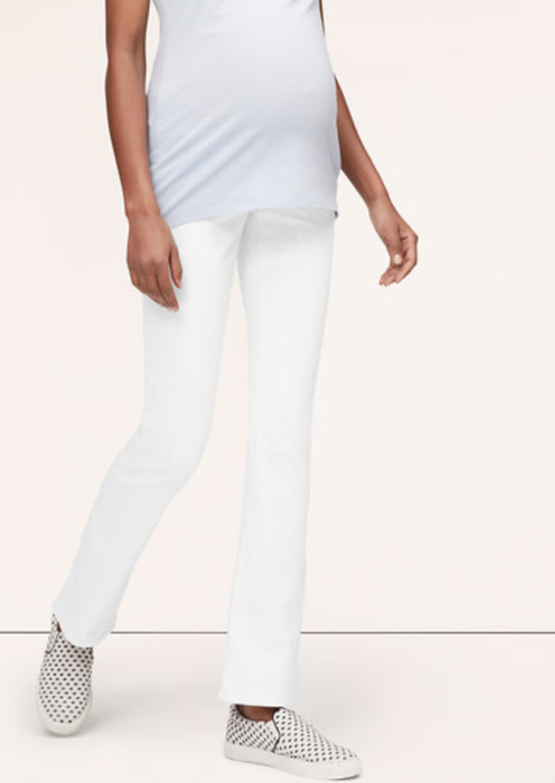 LOFT Petite Maternity Modern Boot Cut Jeans in White ...