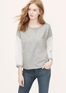 Petite Mixed Media Sweatshirt
