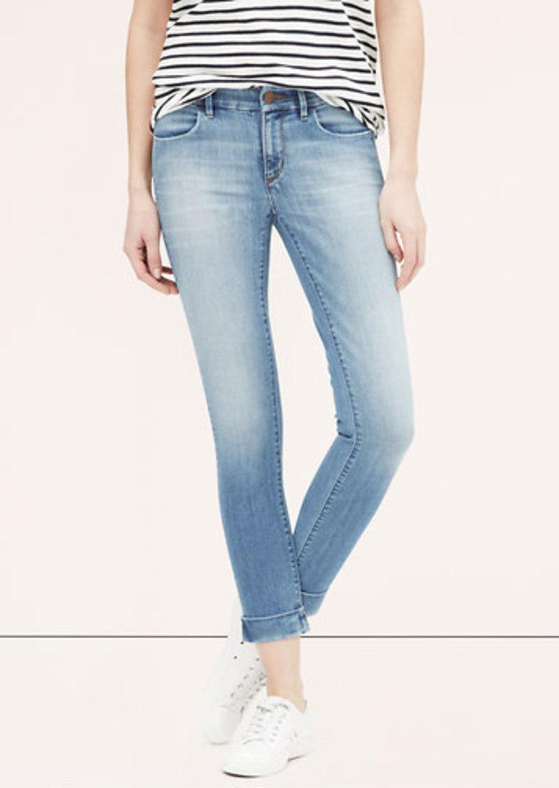 Loft Petite Modern Clean Cuffed Skinny Ankle Jeans In