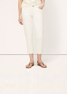 Petite Modern Straight Cuffed Cropped Jeans in Natural Wash