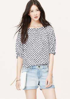 Petite Mosaic Relaxed Blouse