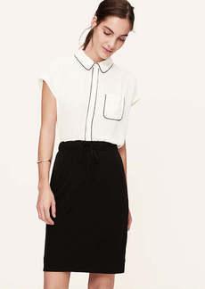 Petite Piped Shirt
