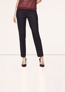 Petite Plaid Cuffed Ankle Pants in Marisa Fit