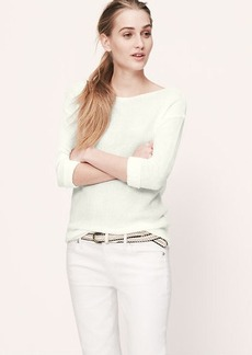 Petite Ribbed Boatneck Sweater