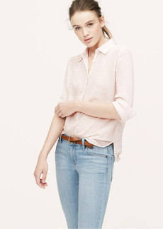 Petite Seersucker Tunic Softened Shirt