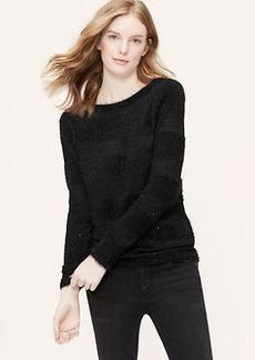 Petite Sequin Stripe Sweater