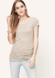 Petite Side Ruched Tee