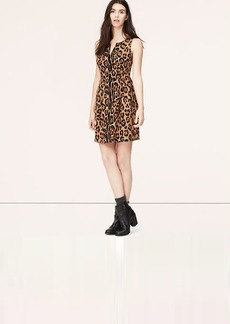 Petite Sleeveless Leopard Print Dress