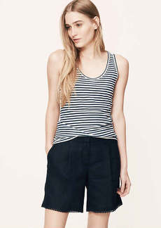 Petite Striped Sunwashed Tank