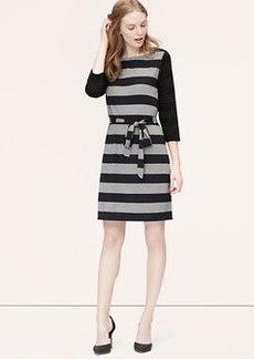 Petite Striped Tie Waist Dress