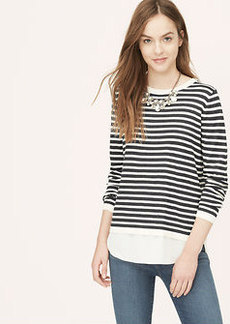 Petite Striped Two In One Sweater