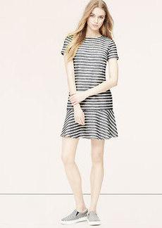 Petite Tweed Stripe Tennis Dress