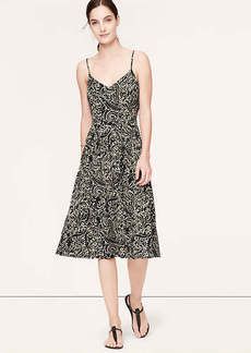 Petite Vine Print Mid-Length Cami Dress