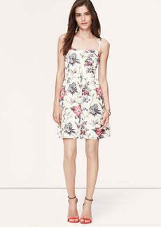 Petite Wallpaper Floral Bustier Dress