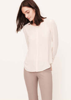 Pintucked Placket Blouse