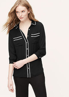 Piped Utility Blouse