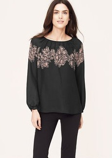 Placed Floral Peasant Blouse