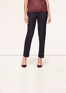 Plaid Cuffed Ankle Pants in Julie Fit