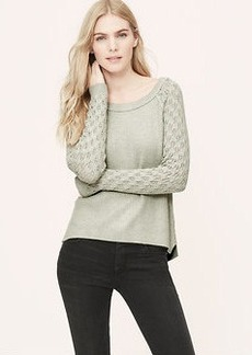 Pointelle Button Back Sweater