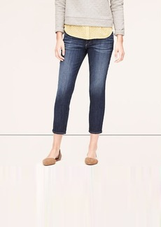 Relaxed Skinny Cropped Jeans in Model Blue Wash