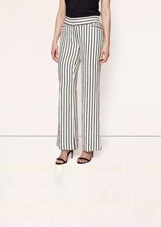Sail Stripe Linen Trouser Leg Pants in Julie Fit
