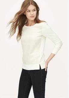 Satiny Floral Jacquard Sweatshirt
