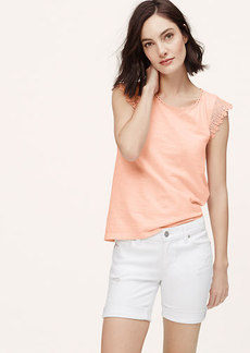 Scallop Lace Sleeve Tee