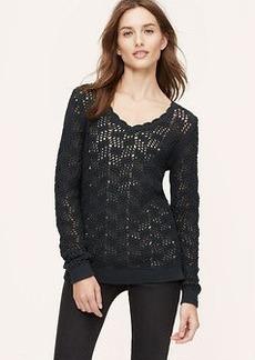 Scallop Neck Sweater