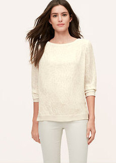 Shadow Animal Spot Sweatshirt Blouse