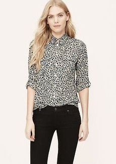 Shadow Floral Utility Blouse