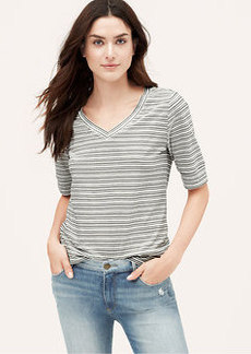 Stripe Banded Cotton Tee