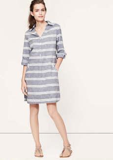 Striped Chambray Shirtdress