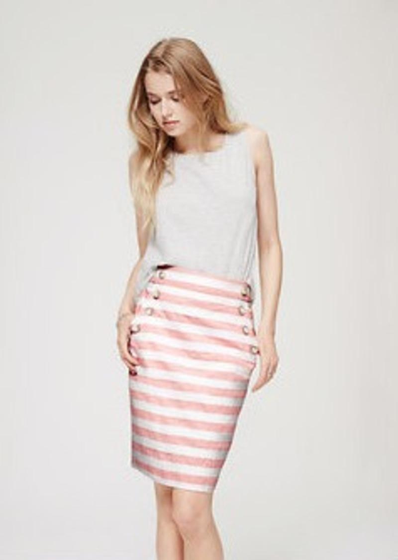 loft striped high waist sailor pencil skirt skirts
